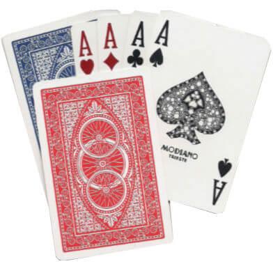 חפיסת קלפים מפלסטיק - דגם אופניים - צר